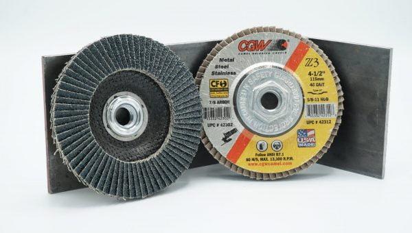 4 1_2_ 115mm 40 Grit Grinding Flap Wheel