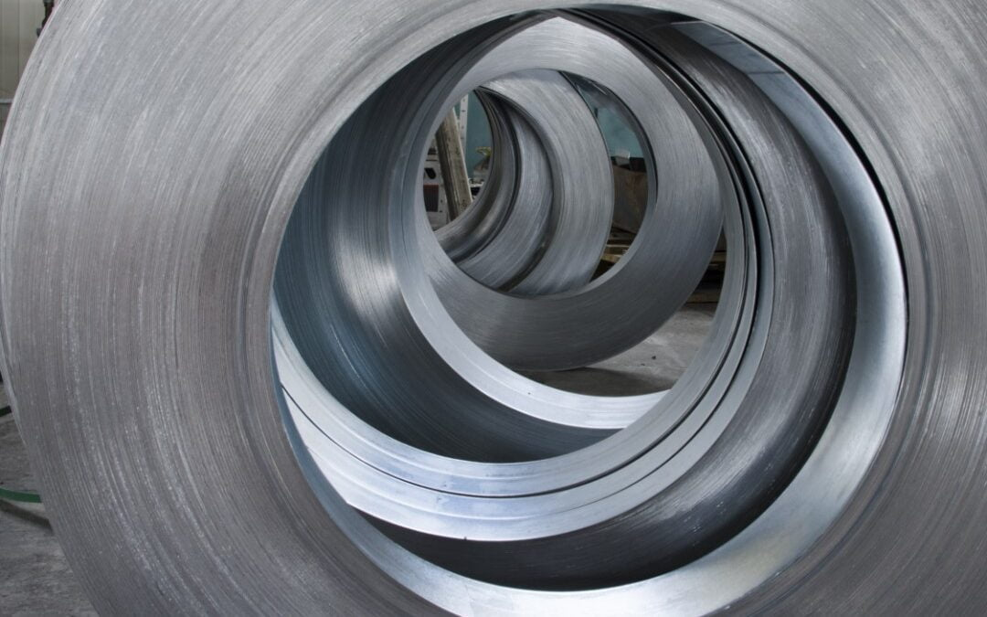 coils of aluminum metal